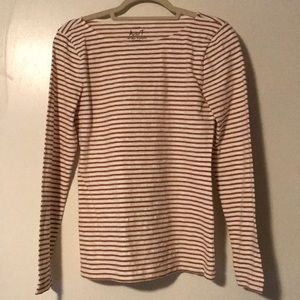 J. Crew Metallic Gold Striped Artist T